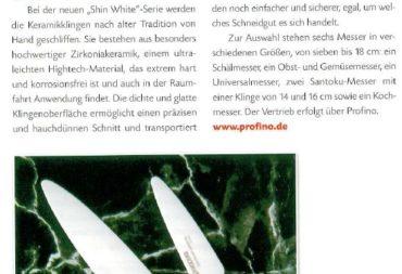 Kyocera SHIN White - die Leichtigkeit des Schneidens