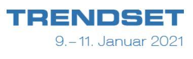 MEET US auf der TRENDSET in München vom 09. - 11. Januar 2021